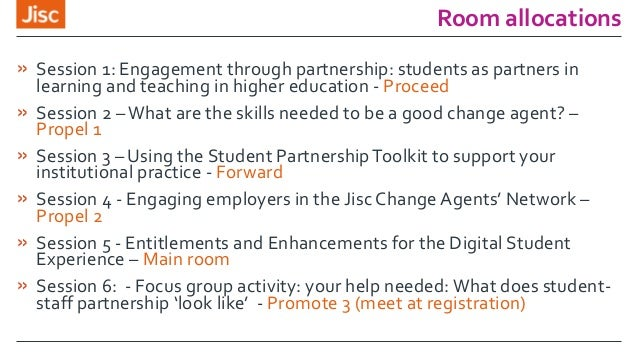 Room allocations » Session 1: Engagement through partnership: students as partners in learning and teaching in higher educ...