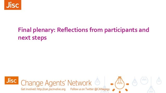 Final plenary: Reflections from participants and next steps