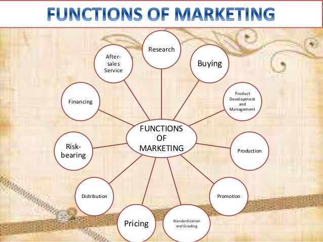 marketing function Marketing refers to the activities of a company associated with buying and selling a product or service it includes advertising, selling and delivering products to people.
