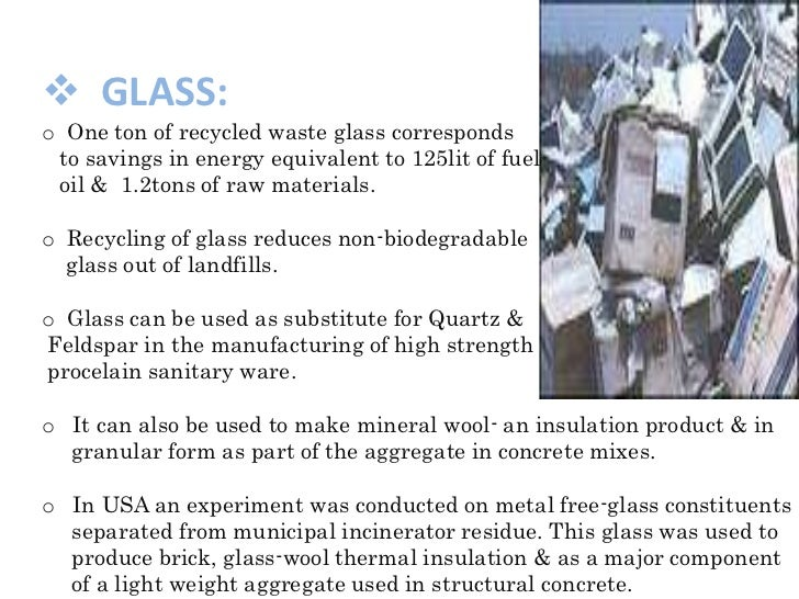 C and d waste ppt for Waste material to useful products