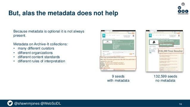 @shawnmjones @WebSciDL But, alas the metadata does not help Because metadata is optional it is not always present. Metadat...
