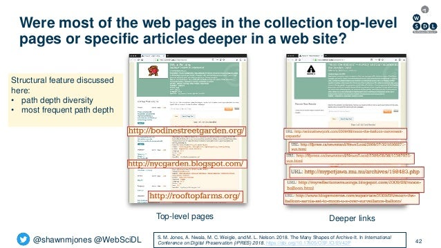 @shawnmjones @WebSciDL Were most of the web pages in the collection top-level pages or specific articles deeper in a web s...