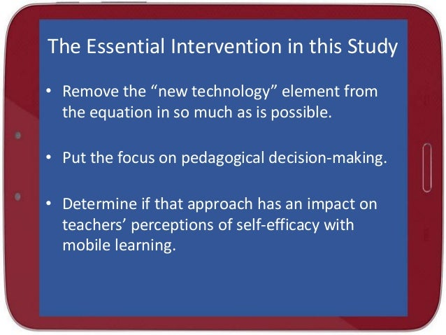 the influence of teacher self-efficacy on technology integration essay Items 8 - 14  positioning the study within self-efficacy for technology integration   impact  pre-service teachers' confidence for working with technology 138  such as  using a word processor instead of pencil and paper to write an essay.