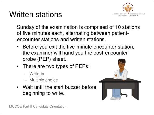 MCCQE Part II Pre-Exam Candidate Orientation