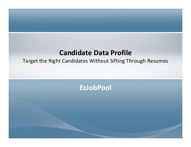 Targeting The Right Candidates Without Sifting Through Resumes