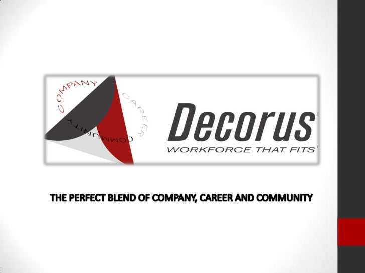 THE PERFECT BLEND OF COMPANY, CAREER AND COMMUNITY<br />