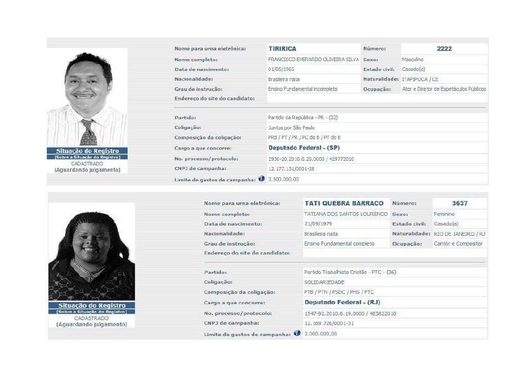 Candidatos Famosos 2010