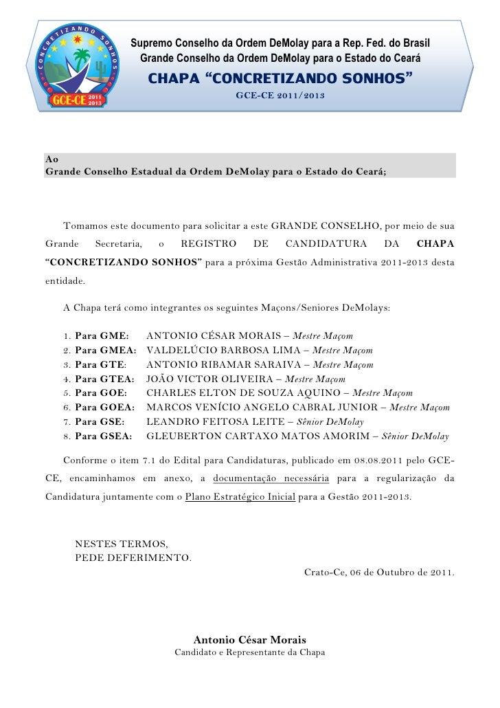 Supremo Conselho da Ordem DeMolay para a Rep. Fed. do Brasil                      Grande Conselho da Ordem DeMolay para o ...