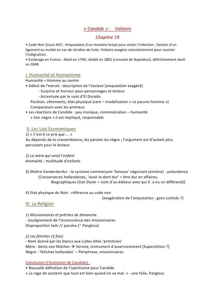 voltaire candide chapitre 19 dissertation Candide, chapitre 19 commentaire de texte: candide, chapitre 19 recherche parmi 201 000+ dissertations par hasazerty • 1 janvier 2016 • commentaire de texte • 1 196 mots (5 pages) • 549 vues.
