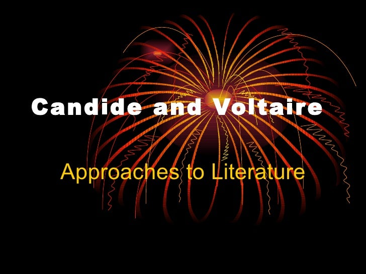 Candide and Voltaire   Approaches to Literature