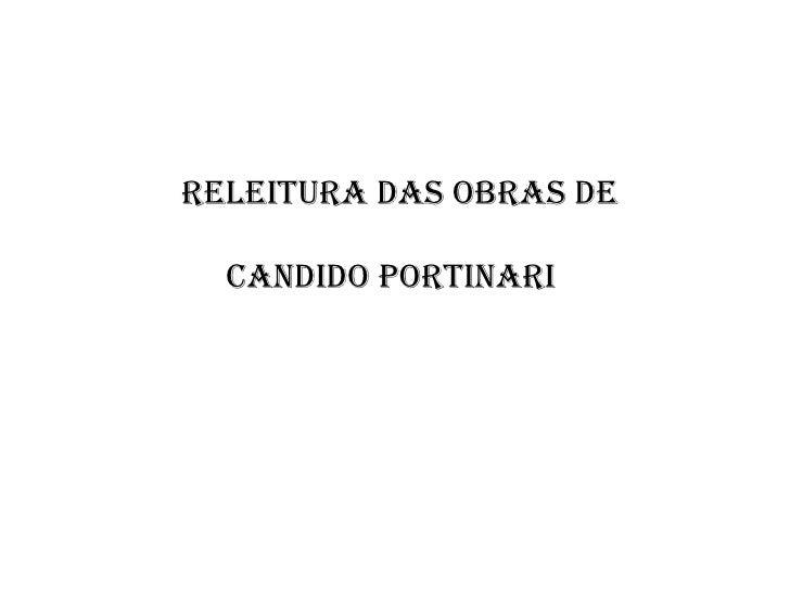 Releitura das obras de  Candido Portinari