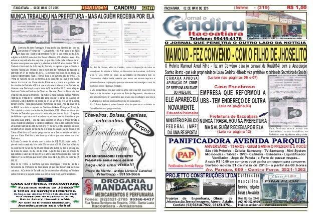 ITACOATIARA - 02 DE MAIO DE 2015 PG 12 PANIFICADORA AVENIDA PARQUE ITACOATIARA, 02 DE MAIO DE 2015 Av. Parque, 609 - Centr...