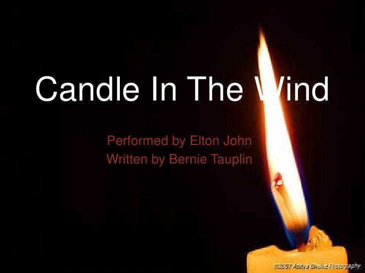 Candle In The Wind Text