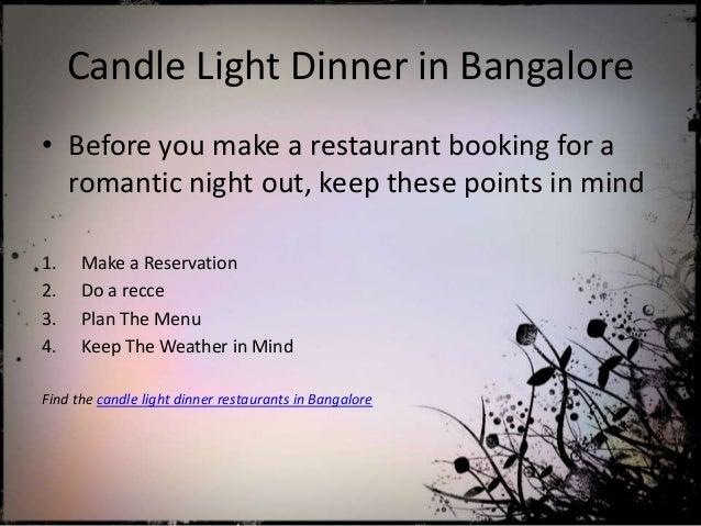 romantic candle light dinner restaurant