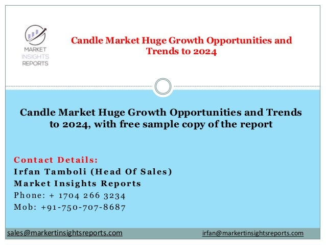 Contact Details: Irfan Tamboli (Head Of Sales) Market Insights Reports Phone: + 1704 266 3234 Mob: +91-750-707-8687 Candle...