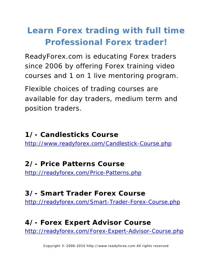 Forex candlestick course