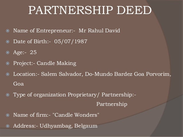 business plan for partnership firm