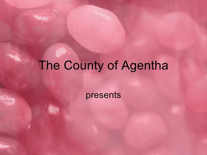 Free Candy PowerPoint Template The County Of Agentha Presents