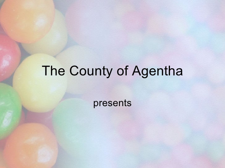 Candy PPT Template For PowerPoint Presentation The County Of Agentha Presents