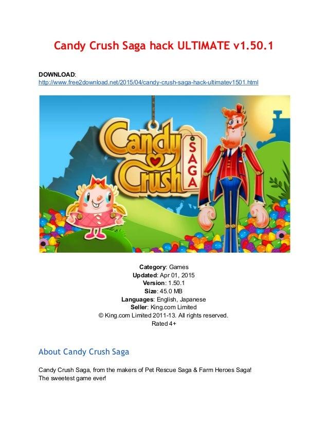 Candy Crush Saga hack ULTIMATE v1 50 1