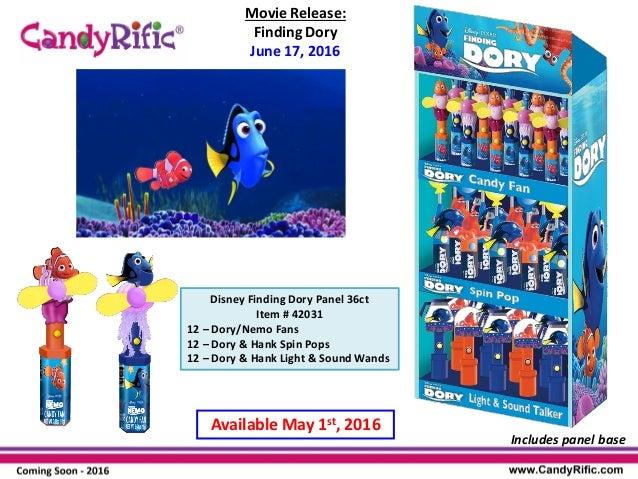 Nemo Character Disney Pixar Finding Dory Candy Dispenser Fan
