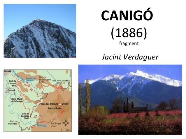 CANIGÓ (1886) fragment  Jacint Verdaguer