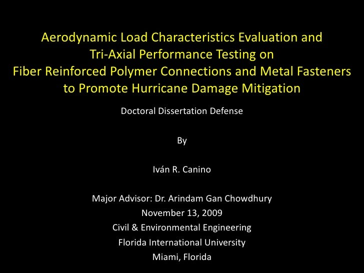 Aerodynamic Load Characteristics Evaluation and Tri-Axial Performance Testing on Fiber Reinforced Polymer Connections and ...