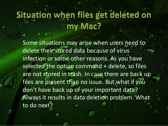 how to get back items deleted from trash mac