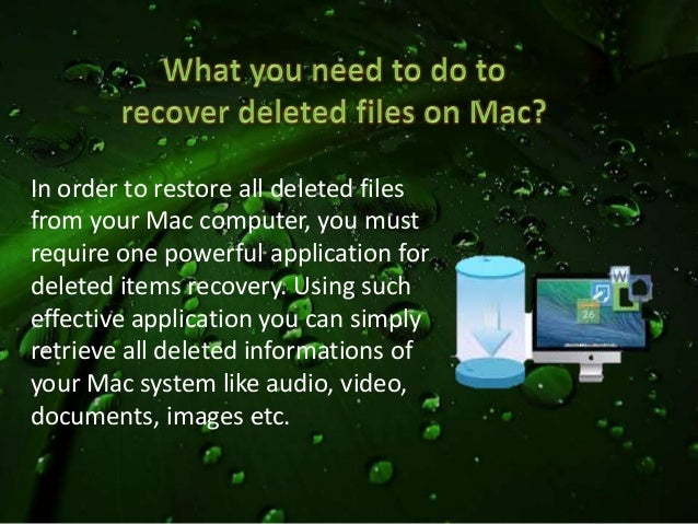 Can I Recover Deleted Files From My Mac Computer Without