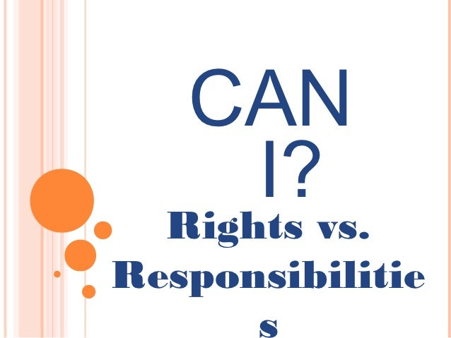 CAN    I?  Rights vs.Responsibilitie      s