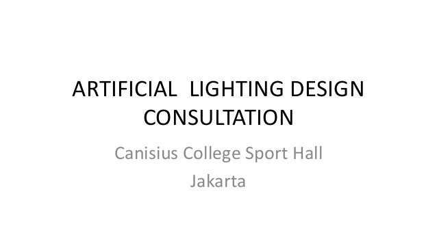 Canisius College Sport Hall Artificial Lighting Slide 2