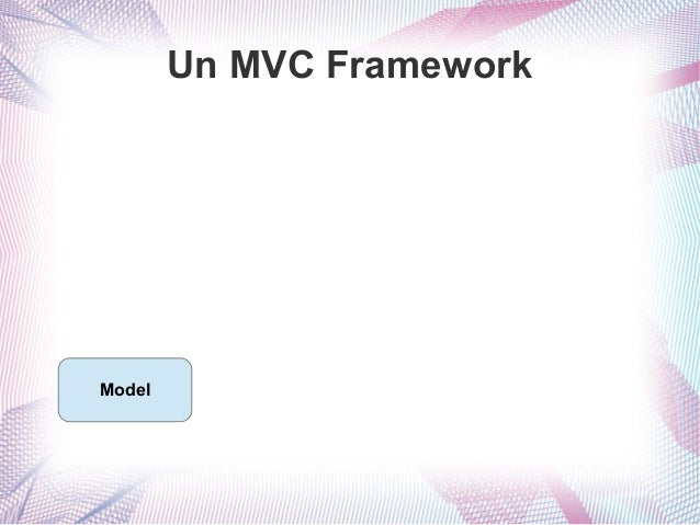 Un MVC Framework  Model