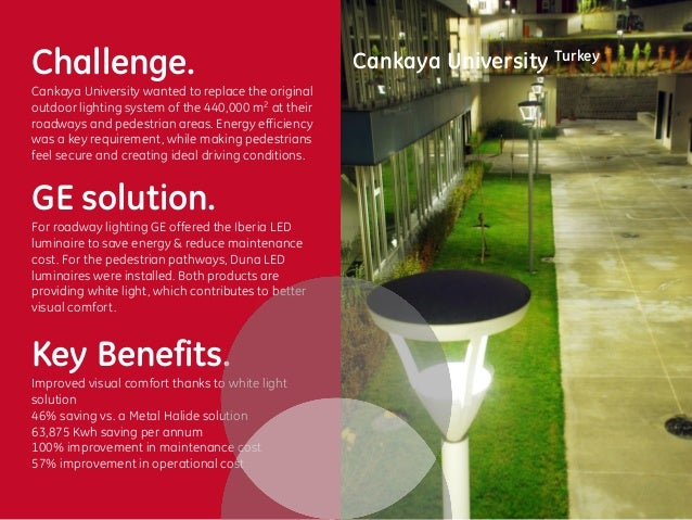 Cankaya university outdoor lighting project with ge aloadofball Image collections