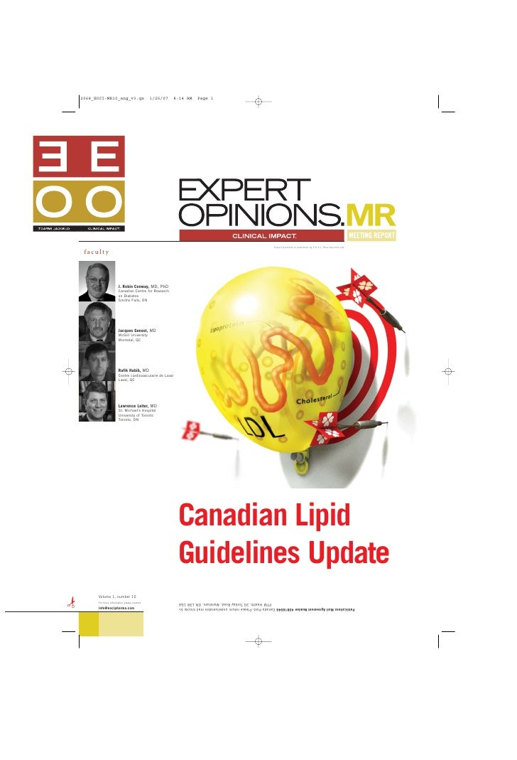 Expert Opinions is published by E.O.C.I. Pharmacomm Ltd.  faculty                         J. Robin Conway, MD, PhD        ...
