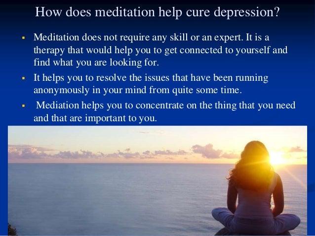 Can meditation help depression