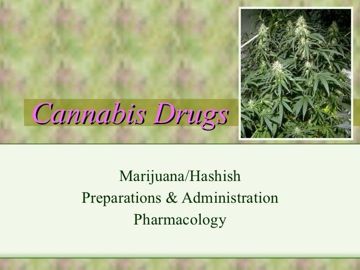 Cannabis Drugs Marijuana/Hashish Preparations & Administration Pharmacology