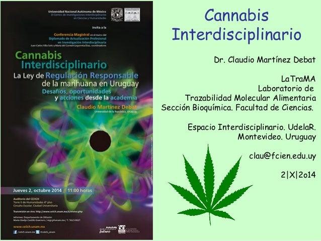 Dr. Claudio Martínez Debat LaTraMA Laboratorio de Trazabilidad Molecular Alimentaria Sección Bioquímica. Facultad de Cienc...