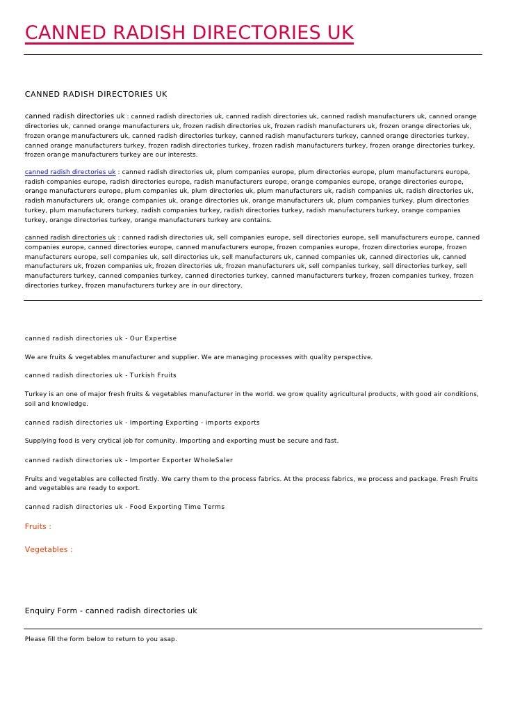 CANNED RADISH DIRECTORIES UKCANNED RADISH DIRECTORIES UKcanned radish directories uk : canned radish directories uk, canne...