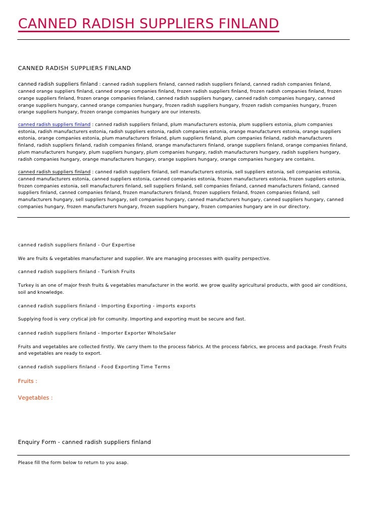 CANNED RADISH SUPPLIERS FINLANDCANNED RADISH SUPPLIERS FINLANDcanned radish suppliers finland : canned radish suppliers fi...