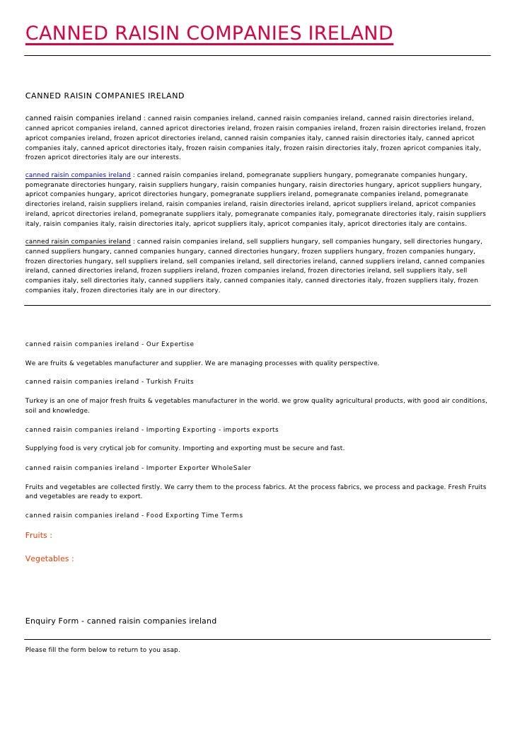 CANNED RAISIN COMPANIES IRELANDCANNED RAISIN COMPANIES IRELANDcanned raisin companies ireland : canned raisin companies ir...