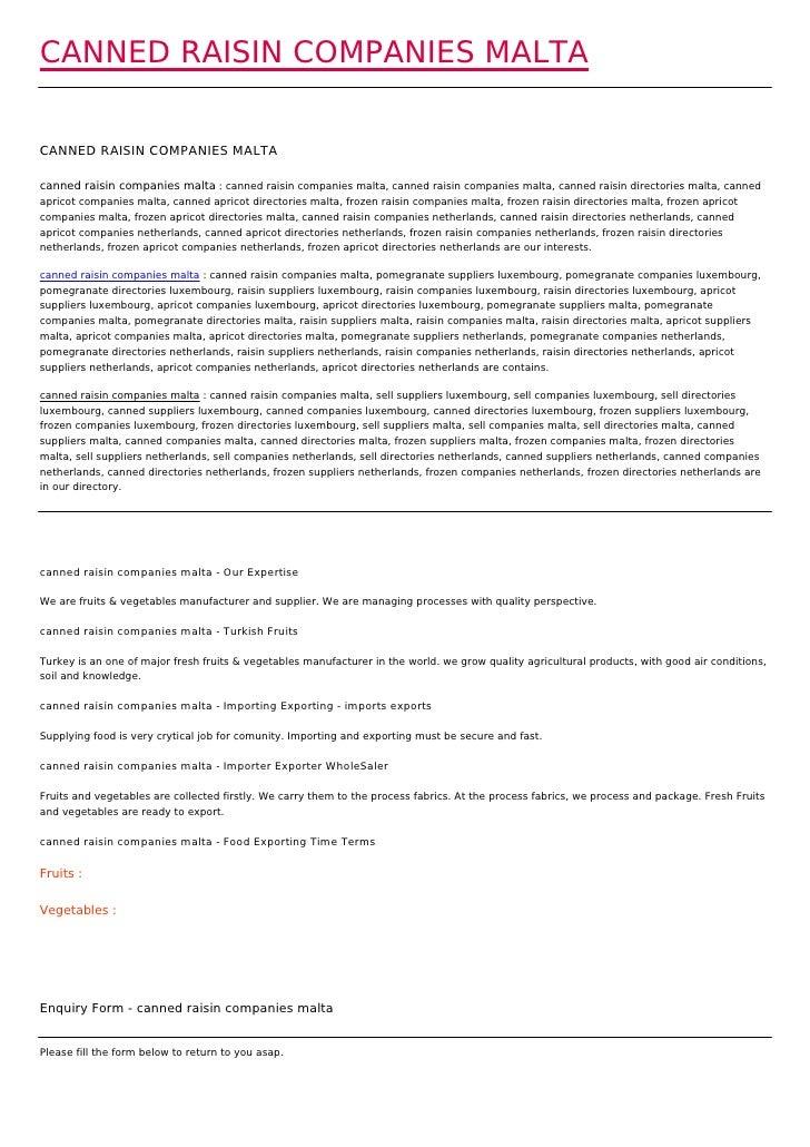 CANNED RAISIN COMPANIES MALTACANNED RAISIN COMPANIES MALTAcanned raisin companies malta : canned raisin companies malta, c...