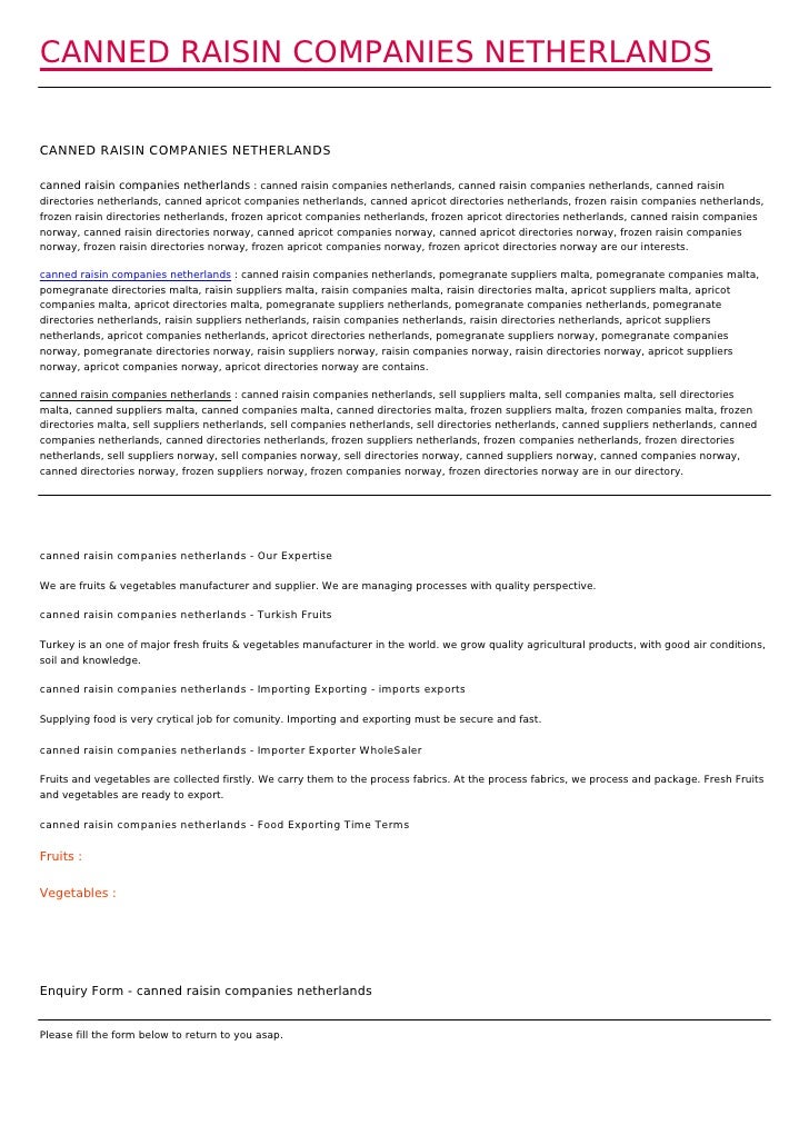CANNED RAISIN COMPANIES NETHERLANDSCANNED RAISIN COMPANIES NETHERLANDScanned raisin companies netherlands : canned raisin ...
