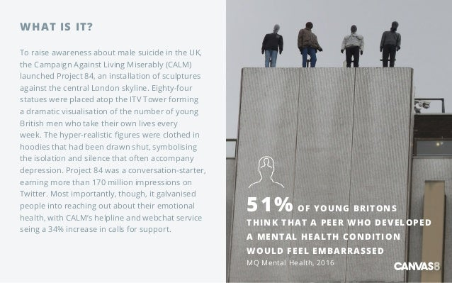 WHAT IS IT? To raise awareness about male suicide in the UK, the Campaign Against Living Miserably (CALM) launched Project...