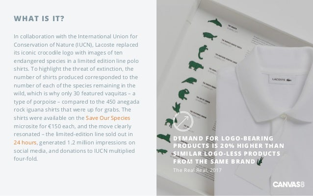 WHAT IS IT? In collaboration with the International Union for Conservation of Nature (IUCN), Lacoste replaced its iconic c...