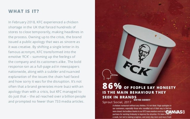 WHAT IS IT? In February 2018, KFC experienced a chicken shortage in the UK that forced hundreds of stores to close tempora...