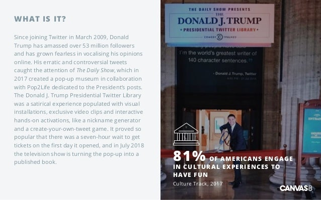 WHAT IS IT? Since joining Twitter in March 2009, Donald Trump has amassed over 53 million followers and has grown fearless...