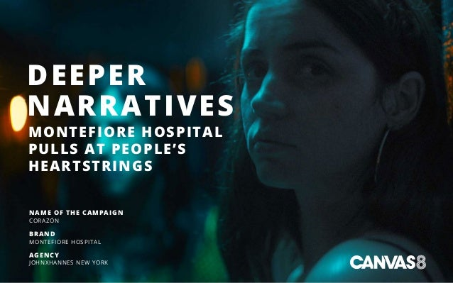DEEPER NARRATIVES MONTEFIORE HOSPITAL PULLS AT PEOPLE'S HEARTSTRINGS NAME OF THE CAMPAIGN CORAZÓN BRAND MONTEFIORE HOSPITA...