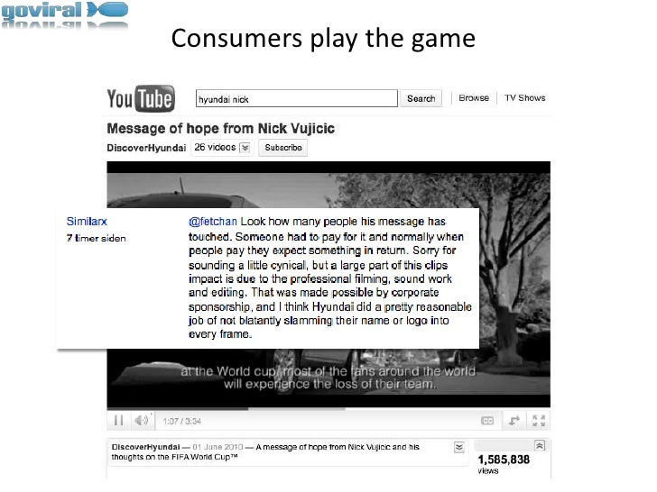 Consumers play the game<br />