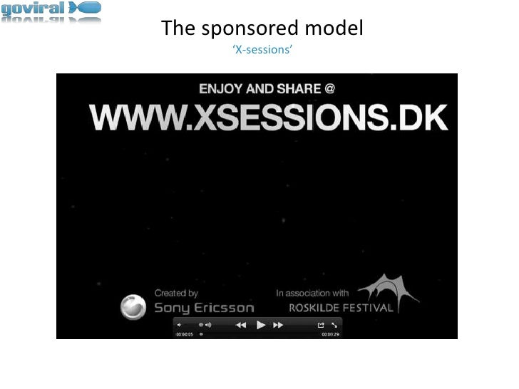 The sponsored model'X-sessions'<br />