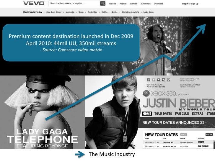 Premium content destination launched in Dec 2009<br />April 2010: 44mil UU, 350mil streams<br />- Source: Comscore video m...